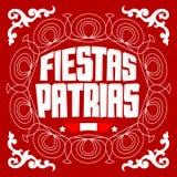 Fiesta's Patrias - Nationale feestdagen Spaanse tekst, banner van de het thema de patriottische viering van Peru Royalty-vrije Stock Afbeelding