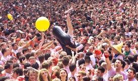 Fiesta of San Fermin in Pamplona Stock Image