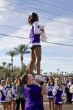 Fiesta-Schüssel-Parade-College-Cheerleadern 2012 Lizenzfreie Stockfotos