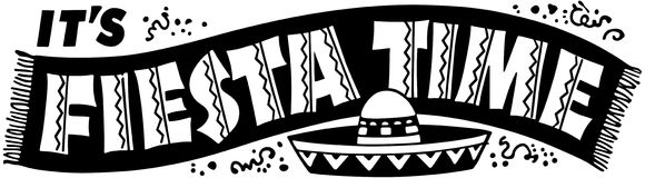 Fiesta Time Banner Royalty Free Stock Photos