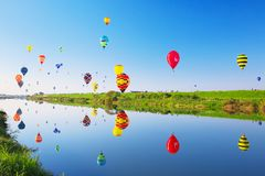 Fiesta van de SAGA de Internationale Ballon Stock Foto's