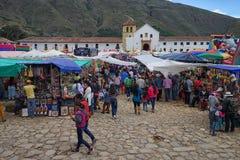 Fiesta w Willi De Leyva Kolumbia Zdjęcia Royalty Free