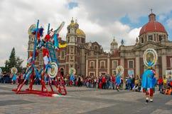 Fiestapatronal San Juan Diego Cuauhtlatoatzin i Mexico - stad Arkivbild