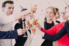 Fiestas en la oficina del Año Nuevo 2018 Imagen de archivo
