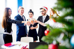 Fiestas en la oficina del Año Nuevo Imagen de archivo