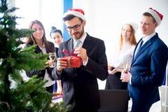Fiestas en la oficina del Año Nuevo Fotos de archivo