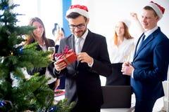 Fiestas en la oficina del Año Nuevo Imagenes de archivo