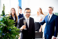 Fiestas en la oficina del Año Nuevo Fotos de archivo libres de regalías