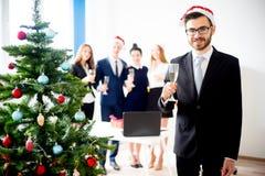 Fiestas en la oficina del Año Nuevo Foto de archivo libre de regalías