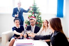 Fiestas en la oficina del Año Nuevo Foto de archivo