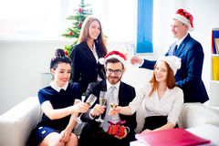 Fiestas en la oficina del Año Nuevo Fotografía de archivo libre de regalías