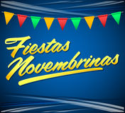 Fiestas Novembrinas - November Celebrations spanish text. Colombia traditional holiday, Independence celebration. - eps available Royalty Free Stock Images