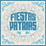 Fiestas Patrias, National Holidays spanish text, Argentina theme patriotic celebration banner. Argentine flag color - eps available Royalty Free Stock Image