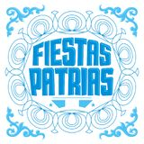 Fiestas Patrias, National Holidays spanish text, Argentina theme patriotic celebration banner. Argentine flag color - eps available Stock Photography