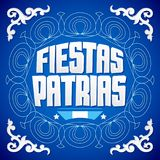Fiestas Patrias, National Holidays spanish text, Argentina theme patriotic celebration banner. Argentine flag color - eps available Royalty Free Stock Photo