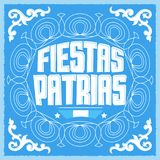 Fiestas Patrias, National Holidays spanish text, Argentina theme patriotic celebration banner. Argentine flag color - eps available Royalty Free Stock Photos