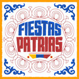 Fiestas Patrias - National Holidays spanish text Stock Image