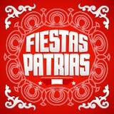 Fiestas Patrias, National Holidays spanish text, Peru theme patriotic celebration banner. Peruvian flag colors - eps available Royalty Free Stock Photo