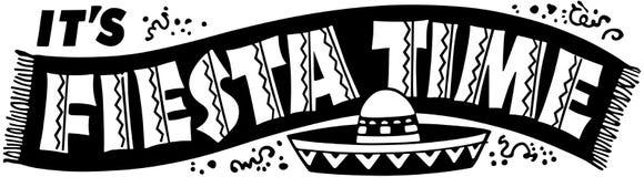 FiestaTid baner royaltyfri illustrationer