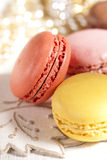 Fiestive macarons, colorful glitter nupkins Royalty Free Stock Photos