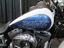 Fiets De gashouder en de motor van Harley Davidson 2015 Internationale toont Auto van New York Stock Fotografie