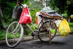 Fiets & het dagelijkse leven Saigon Stock Foto's