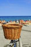 Fiets in het strand royalty-vrije stock fotografie