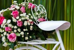 Fiets met bloem Royalty-vrije Stock Foto