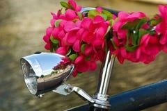 Fiets met bloemen Stock Fotografie