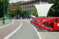 Fiets met drie wielen Stock Foto
