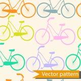 Fiets naadloze kleurrijke fietsen als achtergrond Royalty-vrije Stock Afbeelding