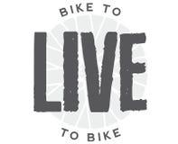 Fiets om te leven Live To Bike stock afbeeldingen