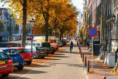Fiets op de brug in Amsterdam Nederland royalty-vrije stock foto's