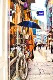 Fiets op de straat van Istanboel Stock Fotografie