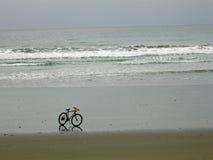 Fiets op het Strand, Ecuador Stock Fotografie