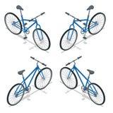 Fiets Vector isometrische illustratie Nieuwe die fiets op een witte achtergrond wordt geïsoleerd Royalty-vrije Stock Foto's
