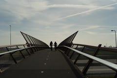 Fietsbrug Stock Foto's