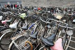 Fietsen in China Stock Afbeelding