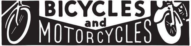 Fietsen en Motorfietsen royalty-vrije illustratie