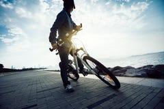 Fietser berijdende fiets Royalty-vrije Stock Afbeeldingen