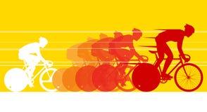 Fietser in het fietsras Stock Foto