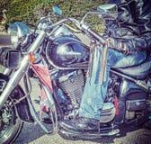 Fietser op motorfiets in hdr Royalty-vrije Stock Fotografie