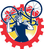 Fietserfiets Mechanisch Retro Carrying Bike Sprocket Stock Foto's