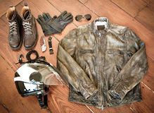 Fietsermateriaal - Motorfietstoestel royalty-vrije stock afbeeldingen