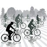 fietsers vector illustratie