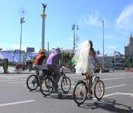 fietsers Royalty-vrije Stock Afbeeldingen