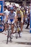 Fietsers in d'Italia van de Giro Royalty-vrije Stock Afbeelding
