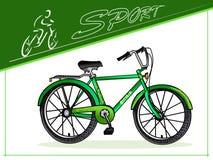 fietsers Fietsen voor andere doelen De fiets van van sportenmannen en vrouwen Three-wheeled ladingsfiets Vector Stock Fotografie