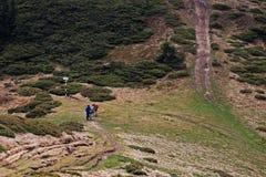 Fietsers op de berg Royalty-vrije Stock Afbeelding