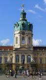 Fietsers in Schloss Charlottenburg Royalty-vrije Stock Foto